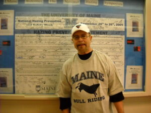 Hank Nuwer at UMaine for the International Research Symposium